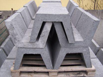 Betonowe korytka ściekowe trapezowe duże 54x40