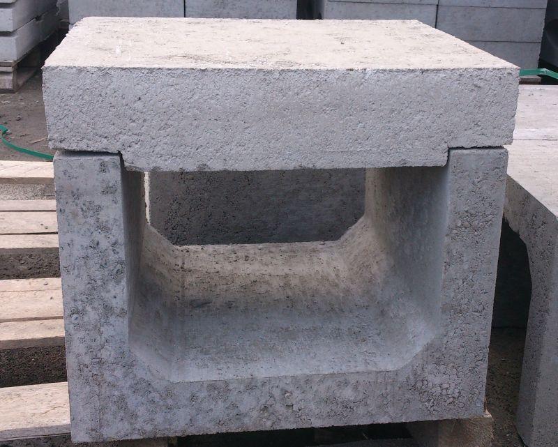 Koryto betonowe skrzynkowe z żelbetonową pokrywą