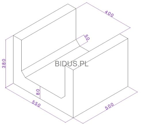 Betonowe koryto skrzynkowe wymiary