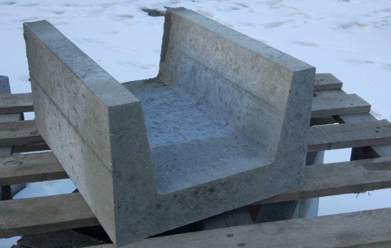 Betonowe koryto ściekowe 40x25 wibroprasowane